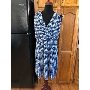 Lane Bryant Blue Houndstooth Dress 22/24
